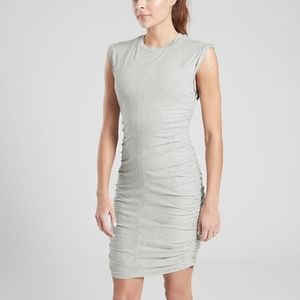 NWT Athleta Apres Ruched Dress Grey Heather S XS